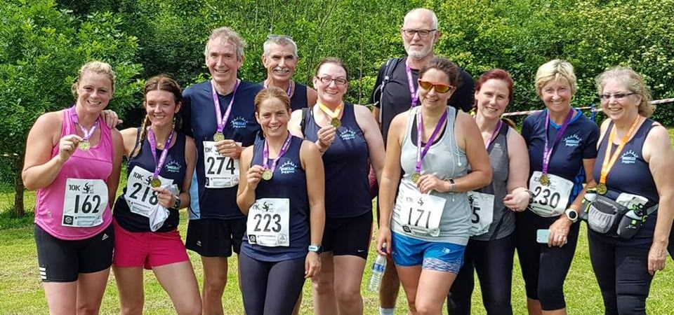 Broseley Joggers medal line-up